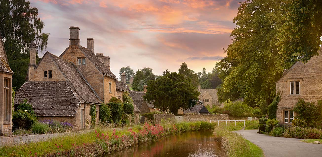 An image of a conservation area at dawn